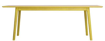 Mobilier - Tables - Table E8 / 240 x 100 cm - Zeitraum - Plateau chêne naturel / Structure chêne teinté jaune zinc (RAL10 - Chêne massif