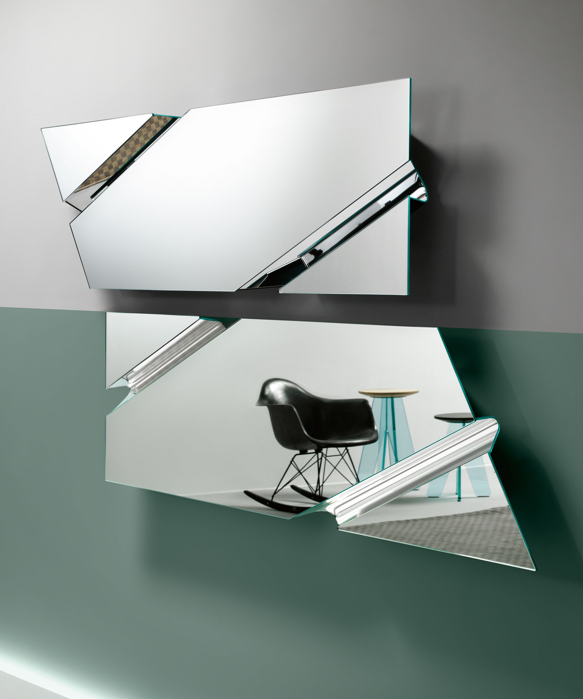Miroir the wing 200 x 53 cm miroir fiam for Miroir 200 x 60
