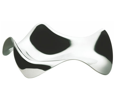 Kitchenware - Handy & cunning - Blip Spoonrest by Alessi - Polished steel - Polished stainless steel