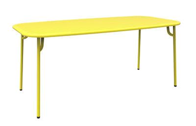 Table rectangulaire Week-end / 180 x 85 cm - Aluminium - Petite Friture jaune en métal