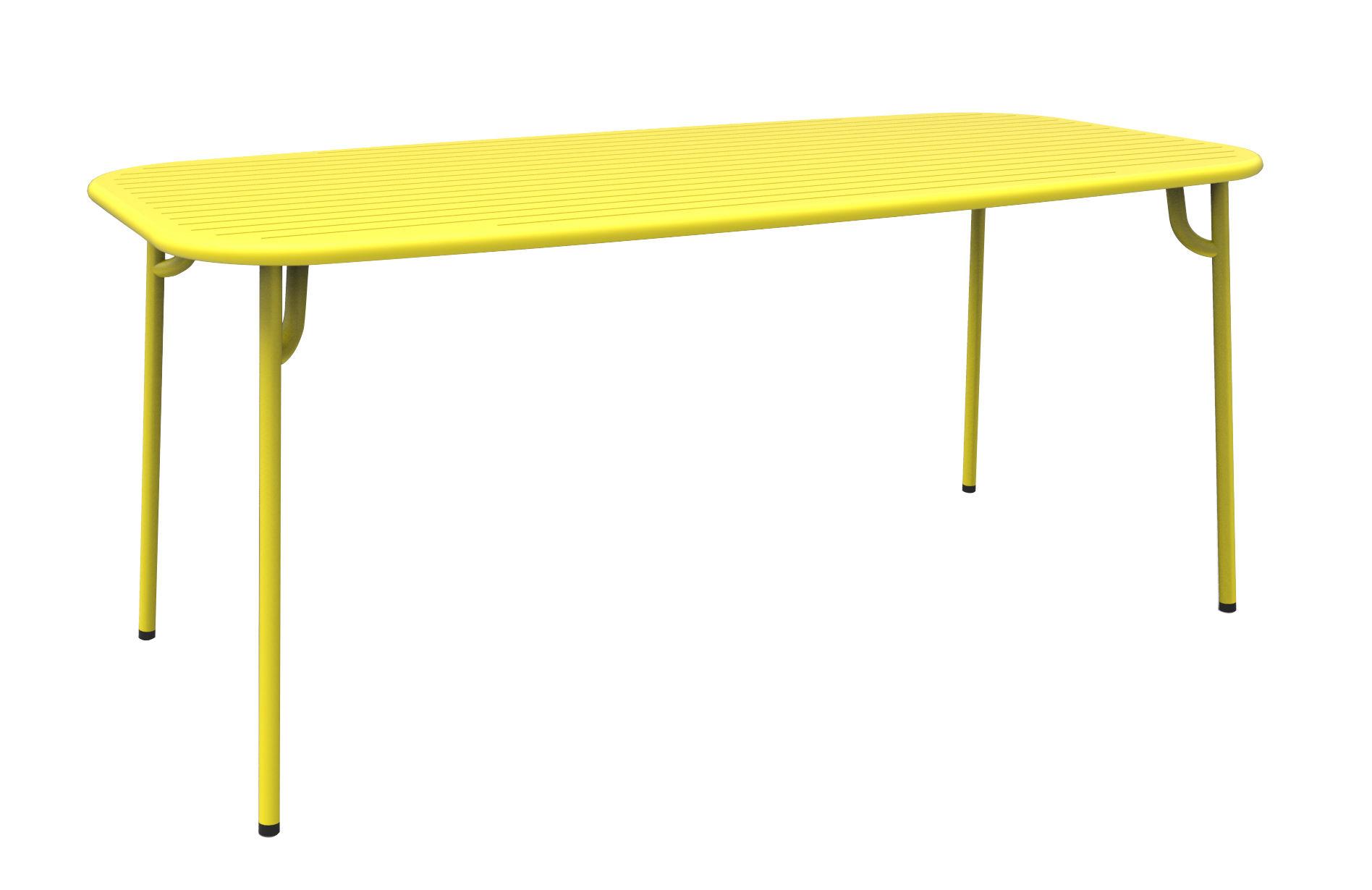 week end rectangular table 180 x 85 cm aluminium