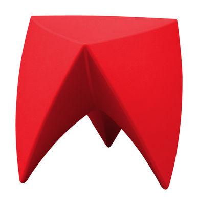 Mobilier - Tables basses - Tabouret empilable Mr. LEM / Plastique - MyYour - Rouge - Polyéthylène rotomoulé