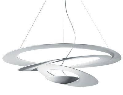 Luminaire - Suspension Pirce LED / Ø 97 cm - Artemide - Blanc - Aluminium verni