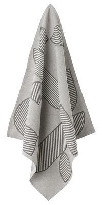 Torchon Figura / Set de 2 - AYTM noir,gris clair en tissu
