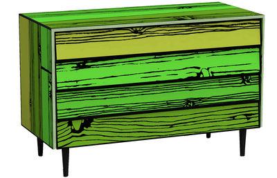 Commode Wrongwoods - Established & Sons vert en bois