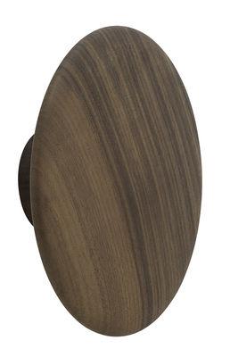 Patère The Dots Large Ø 17 cm Muuto noyer naturel en bois