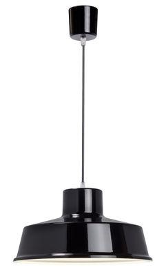 Luminaire - Suspensions - Suspension Fabrique - Ø 35 cm - Roger Pradier - Noir - Aluminium, Porcelaine, Textile