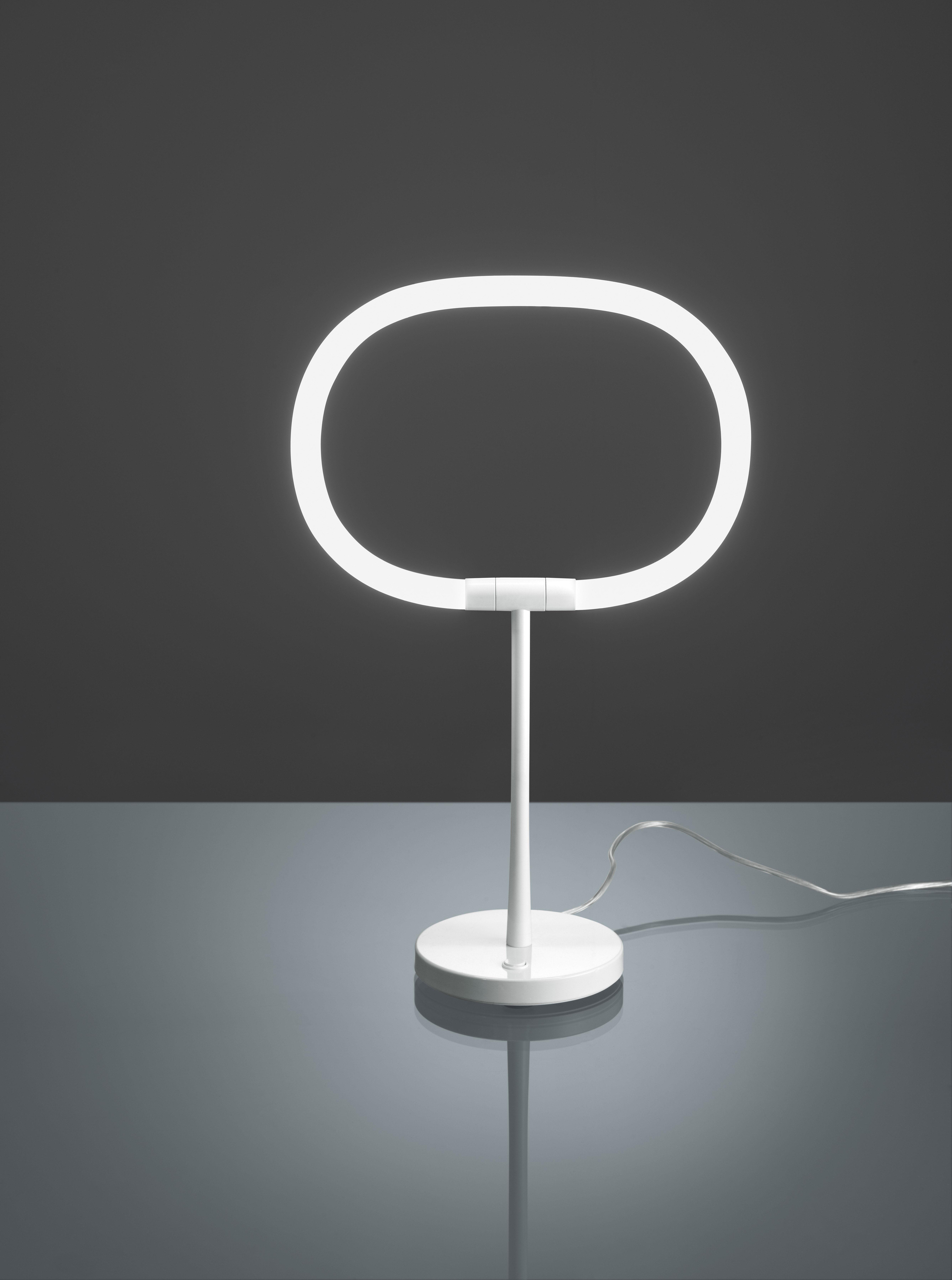 Scopri lampada da tavolo halo led bianco di artemide - Lampada da tavolo di design ...