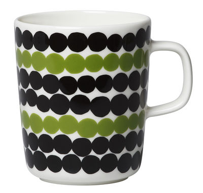 Mug Oiva Siirtolapuutarha / 25 cl - Marimekko blanc,noir,vert en céramique