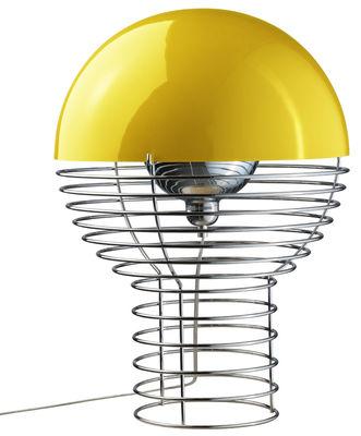 Lighting - Table Lamps - Wire Table lamp - H 54 cm - Panton 1972 by Verpan - H 54 cm - Yellow - Metal, Polycarbonate