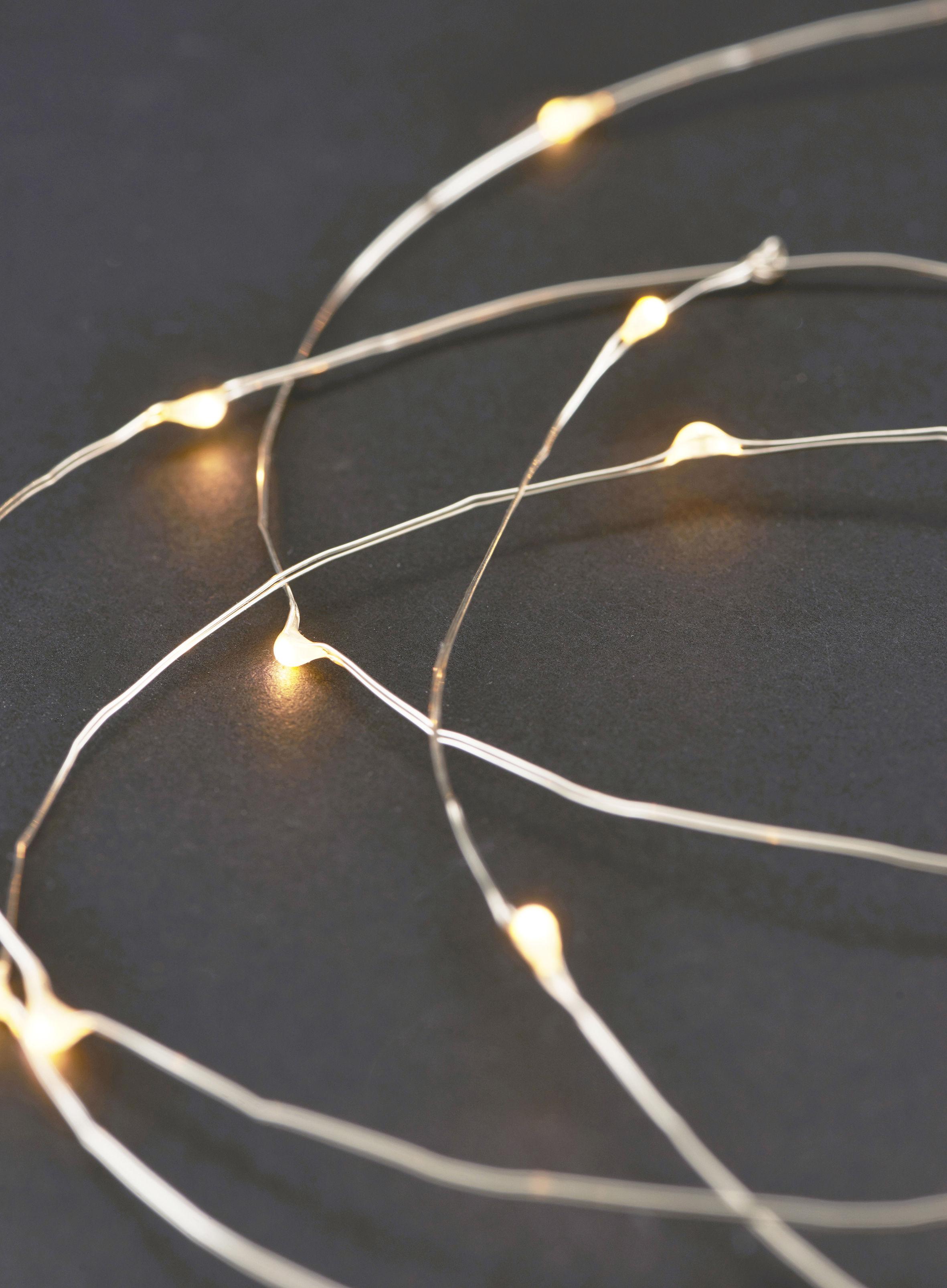 string lights lichterkette led 10 m metall by house doctor made in design. Black Bedroom Furniture Sets. Home Design Ideas