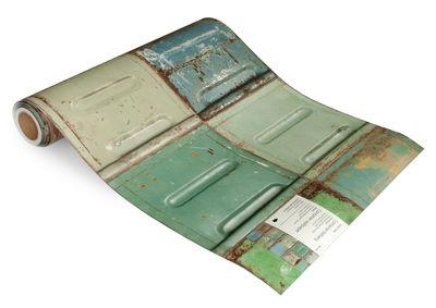 Papier peint Container / 1 rouleau - studio ditte bleu,vert,rouille en papier