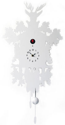 Cucù Wall clock - H 81 cm White by Diamantini & Domeniconi | Made In ...