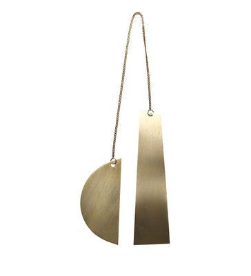 Décoration de Noël Twin Half Moon / Laiton - Ferm Living laiton doré en métal