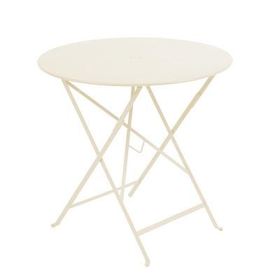 Table pliante Bistro / Ø 77cm - Trou pour parasol Lin - Fermob ...