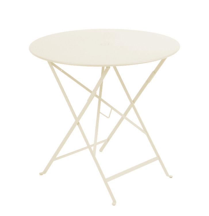 table pliante bistro 77cm trou pour parasol lin fermob made in design. Black Bedroom Furniture Sets. Home Design Ideas