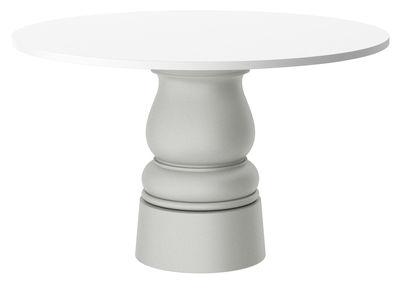 Pied de table Container New Antique / H 71 cm - Pour plateau Ø 140 cm - Moooi gris en matière plastique
