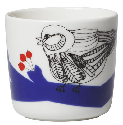 tasse caf pakkanen sans anse set de 2 pakkanen blanc bleu et rouge marimekko made. Black Bedroom Furniture Sets. Home Design Ideas