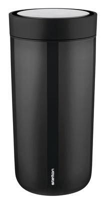 Mug isotherme To Go Click / Large - 34 cl - Stelton noir en matière plastique