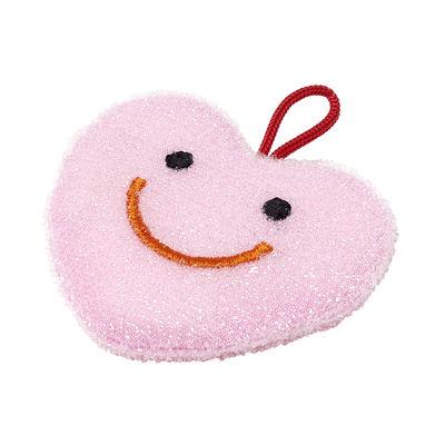 Éponge Cœur - Hay rose en tissu