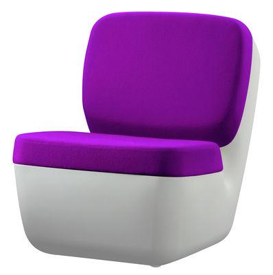 Poltrona bassa Nimrod di Magis - Bianco,Viola - Materiale plastico