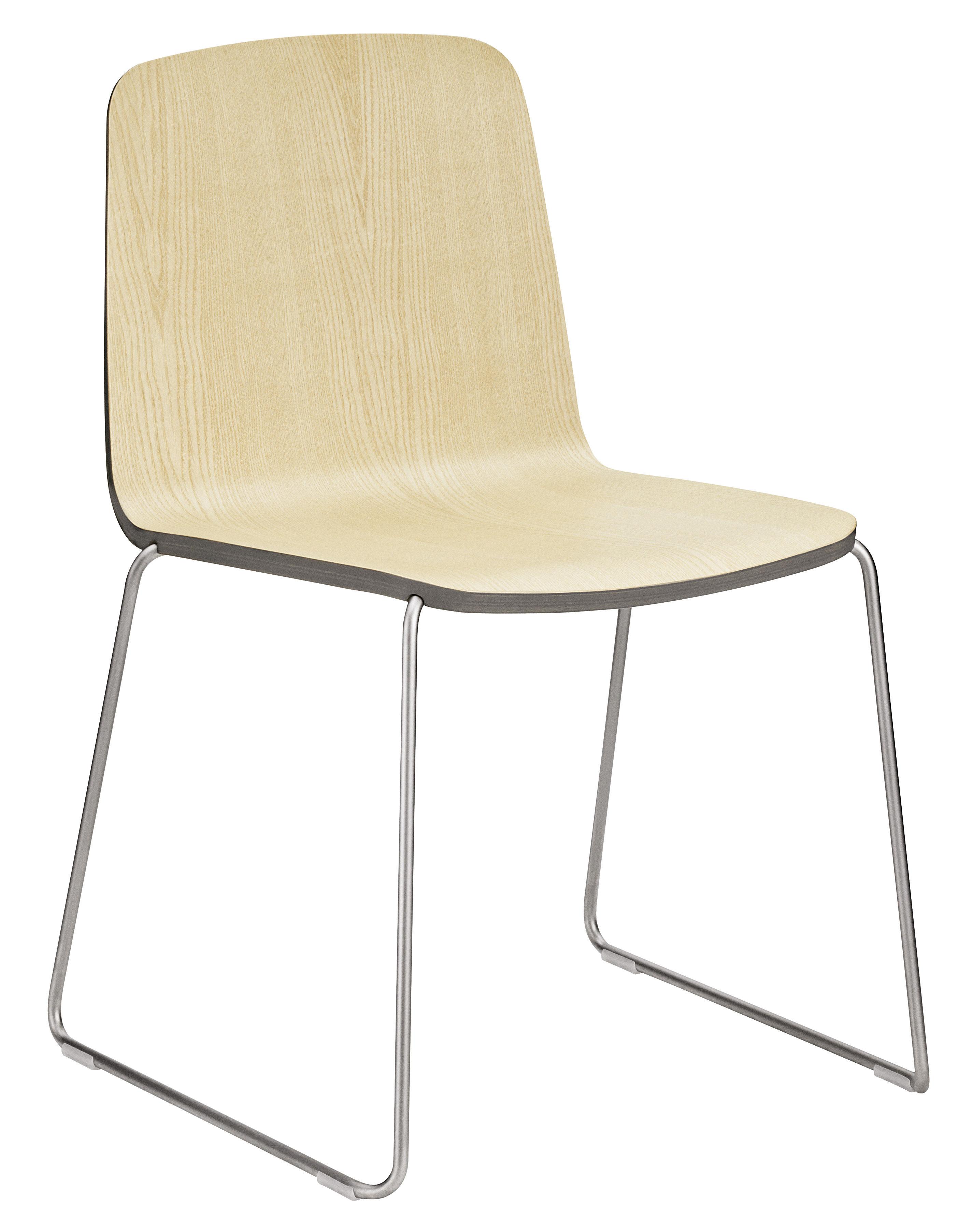 chaise empilable just bois fr ne avec contour gris pied chrom normann copenhagen. Black Bedroom Furniture Sets. Home Design Ideas