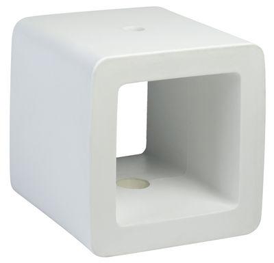 Pied de parasol Cube - Sywawa blanc en matière plastique