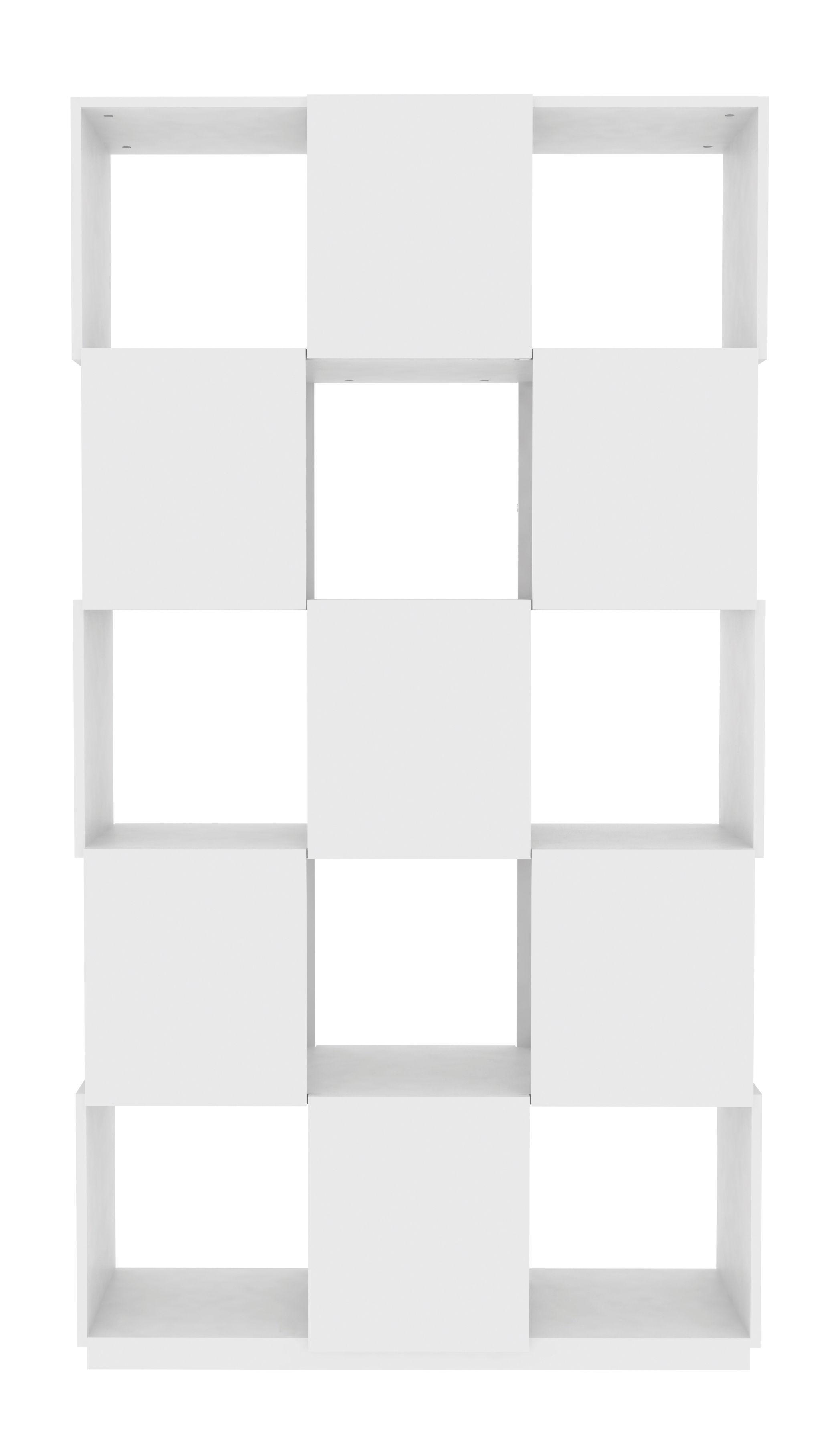 biblioth que cubic l 105 x h 195 cm blanc pop up home. Black Bedroom Furniture Sets. Home Design Ideas