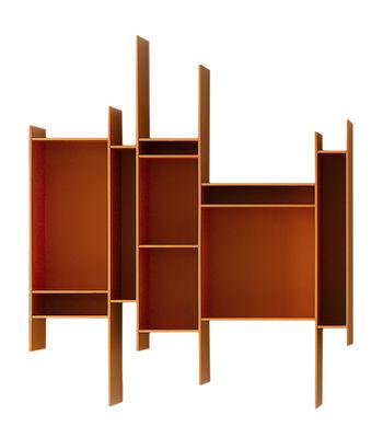Mobilier - Etagères & bibliothèques - Etagère Randomito / L 81 x H 96 cm - MDF Italia - Orange - Fibre de bois laqué