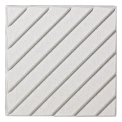 Foto Pannello acustico a muro Soundwave Stripes di Offecct - Bianco - Tessuto