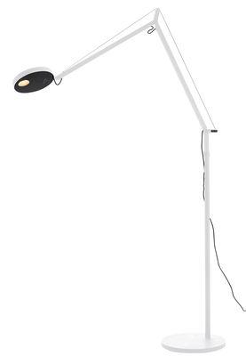 Foto Lampada a stelo Demetra - LED / Con rilevatore di presenza di Artemide - Bianco - Metallo