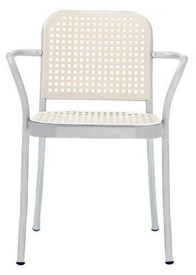Mobilier - Chaises, fauteuils de salle à manger - Fauteuil Silver / Aluminium & plastique - De Padova - Alu satiné/ Blanc - Aluminium satiné, Polypropylène