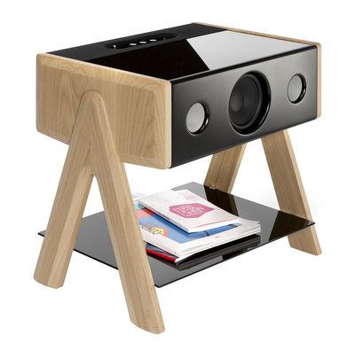 St-Valentin - Pour Lui - Enceinte Bluetooth Cube / Thruster 2.1 - La Boîte Concept - Chêne - Chêne massif, Verre teinté