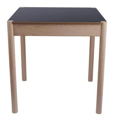 Table C44 / 70 x 70 cm - Plateau réversible - Hay blanc,noir en bois