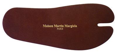Déco - Tendance humour & décalage - Marque-page Tabi - Maison Martin Margiela - Cuir marron - Cuir