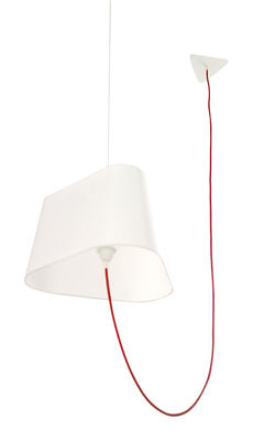 Grand Nuage Pendelleuchte - Designheure - Weiß,Rot