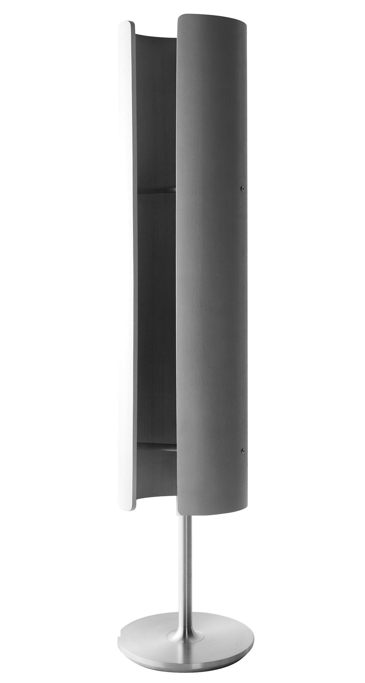 radiateur totem infrarouge et mobile h 170 cm ch ne teint gris i radium. Black Bedroom Furniture Sets. Home Design Ideas
