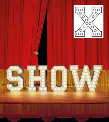Foto Lampada da pavimento Vegaz - /Alfabeto luminoso Lettera X - H 60 cm di Seletti - Bianco - Metallo