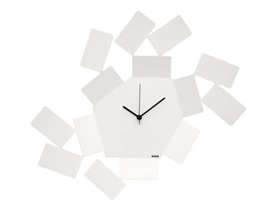 Horloge murale La Stanza dello Scirocco / L 46 x H 33,5 cm - Alessi blanc en métal