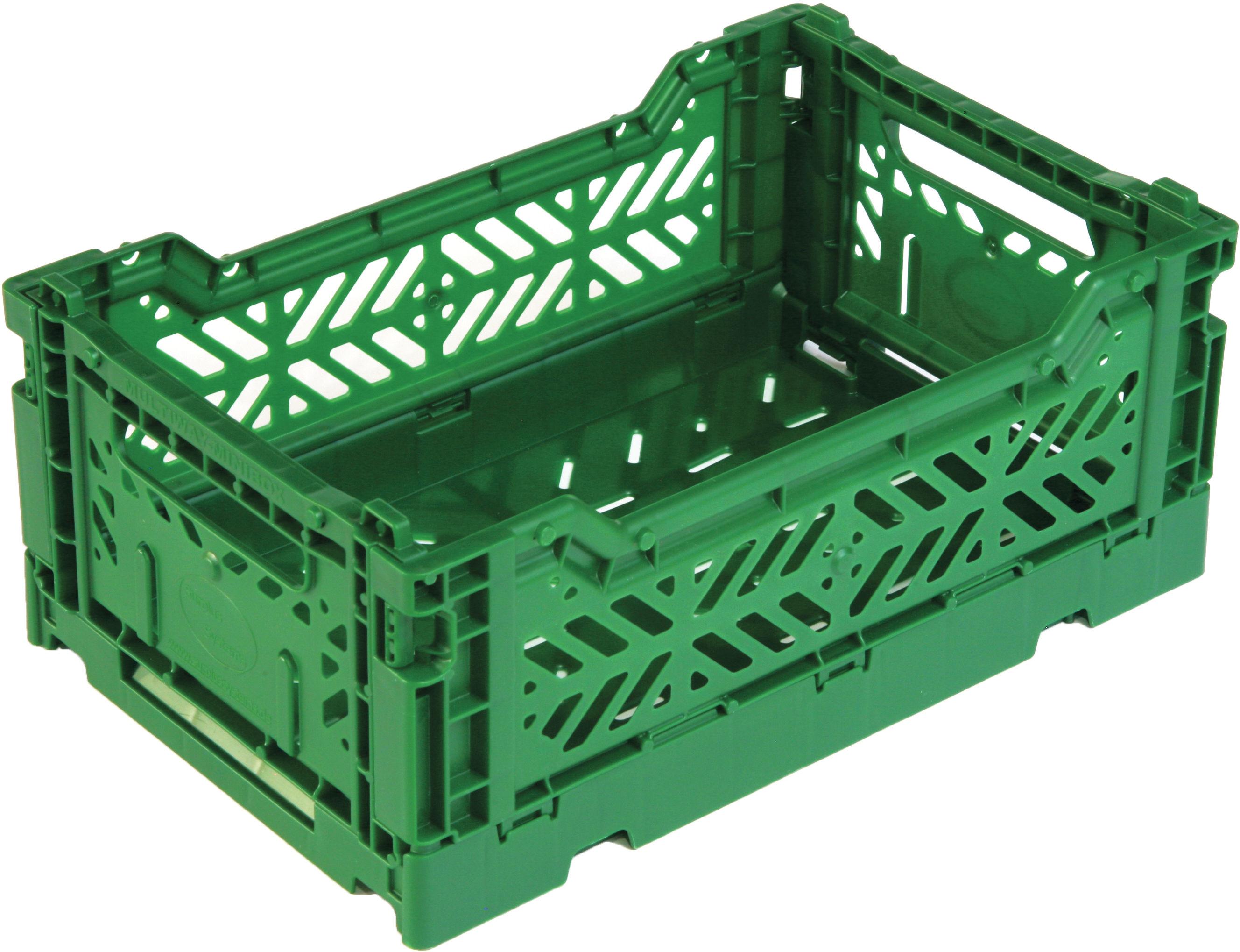 Casier de rangement mini box pliable l 26 5 cm vert - Casier en plastique ...