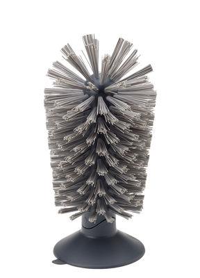 Brosse à verre Brush-up / Base ventouse - Joseph Joseph gris en matière plastique