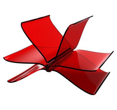 Porte-revues Front Page - Kartell rouge transparent en matière plastique