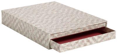 Accessoires - Accessoires bureau - Boîte Letter Box A4 / 2 tiroirs - 33,5 x 25 cm - Hay - Rouge - Carton
