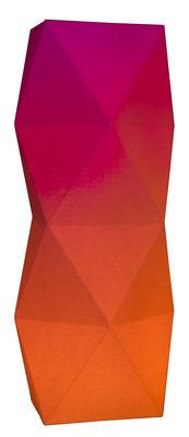 Lampe de table Tower / LED - H 27 cm - Pa Design rose pâle,rose vif en papier