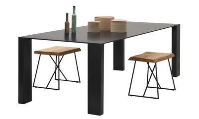 Table Big Gim / 200 x 90 cm - Zeus noir phosphaté en métal