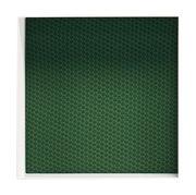 Image of Scaffale Alma - / Modello 40 x 40 - Prof 20 cm - Pannello fondo tessuto Dot Grass di Casamania - Bianco,Verde - Metallo