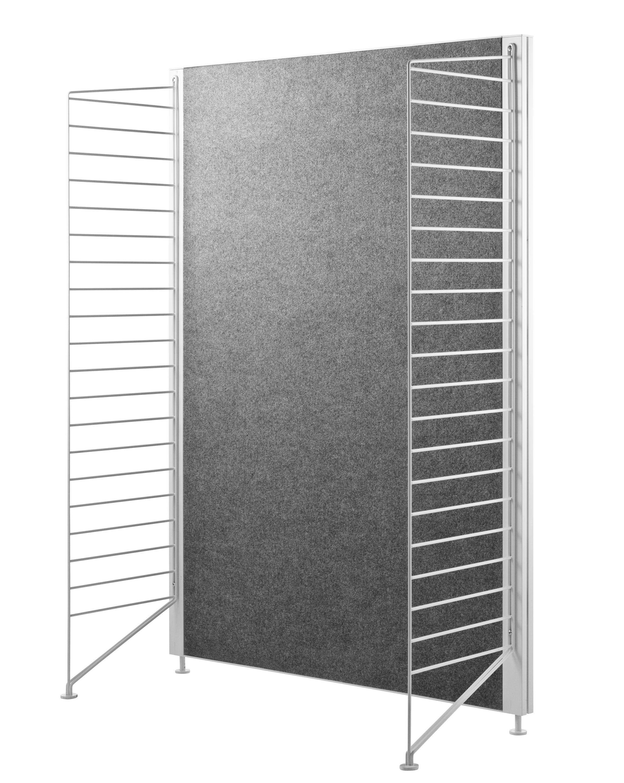 fa ade arri re string works pour meuble de rangement feutre gris string furniture. Black Bedroom Furniture Sets. Home Design Ideas