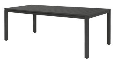 Jardin - Tables de jardin - Table Neptune / Plateau lattes aluminium - 210 x 100 cm - Vlaemynck - Anthracite - Aluminium laqué