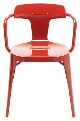 T14 Sessel / Edelstahl - für den Außeneinsatz - Tolix - Paprikarot, glänzend