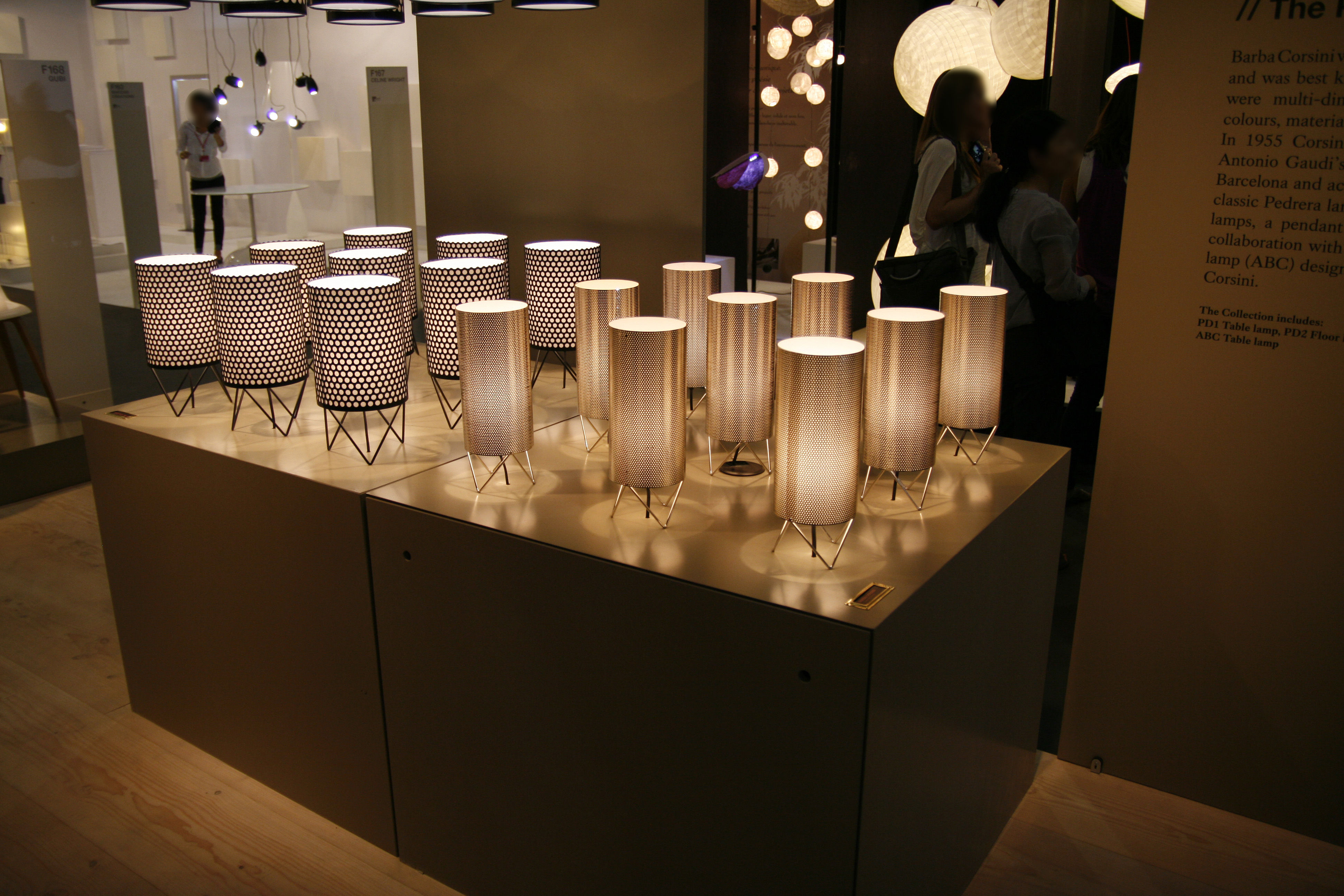 Pedrera H2O Table lamp ˜ 13 x H 33 cm Black by Gubi Pedrera